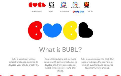 Screenshot of Home Page bublbubl.com - Bubl - captured Oct. 5, 2014