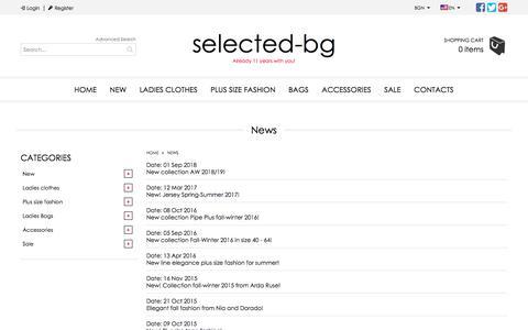 Screenshot of Press Page selected-bg.com - News List   Selected fashion corner - captured Sept. 25, 2018