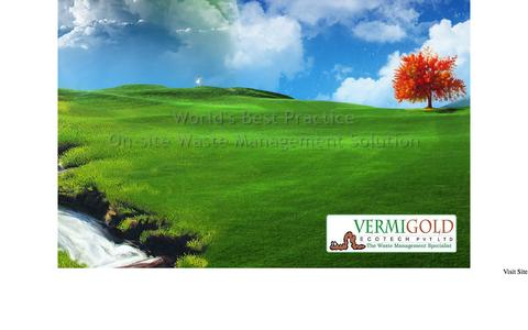 Screenshot of Home Page vermigold.com - Vermigold : Waste management company in india - captured Oct. 9, 2014
