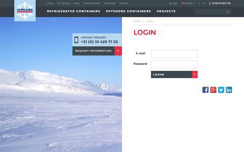 Screenshot of Login Page reftrade.com - Login | Reftrade - captured Dec. 1, 2016