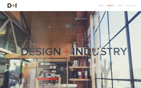 Screenshot of About Page design-industry.com.au - About - D+I - captured Nov. 24, 2016