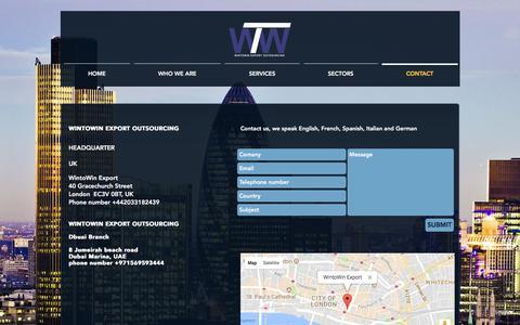 Screenshot of Contact Page wintowin-export.com - International Business Development Consultants   Contact Us - captured June 22, 2017
