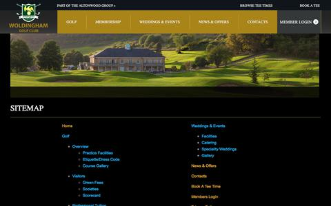 Screenshot of Site Map Page woldinghamgc.co.uk - Sitemap - captured Oct. 26, 2017