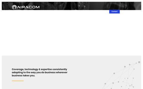 Screenshot of Locations Page airacom.com - AIRACOM | Operating from UK, Abu-Dhabi, Qatar & Nigeria - captured Dec. 18, 2018