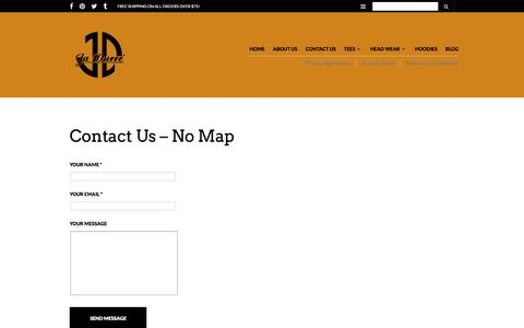 Screenshot of Contact Page jadurre.com - Contact Us – No Map – Ja Durre' Fashions - captured Sept. 20, 2018