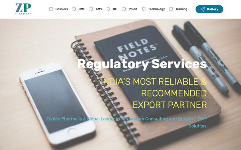 Screenshot of About Page zodiacpharma.com - About Us - Zodiac Pharma, India - Official page - captured Oct. 20, 2018