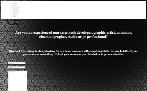 Screenshot of Jobs Page diamondadvertising.us - Diamond Advertising  » Careers - captured Dec. 9, 2018