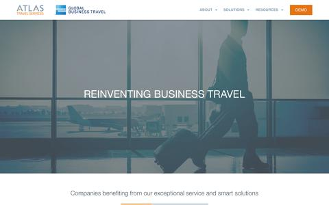 Screenshot of Home Page atlas.ie - Atlas Travel - Corporate Travel Management – Reinventing Business travel - captured Nov. 13, 2018