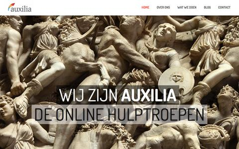 Screenshot of Home Page auxilia.biz - Auxilia Business ConsultancyHome - Auxilia Business Consultancy - captured Feb. 6, 2016