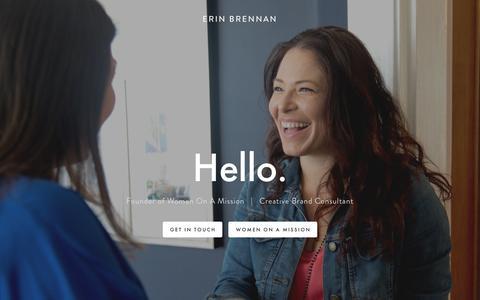 Screenshot of Home Page brennanbrand.com - Erin Brennan - captured Oct. 6, 2018