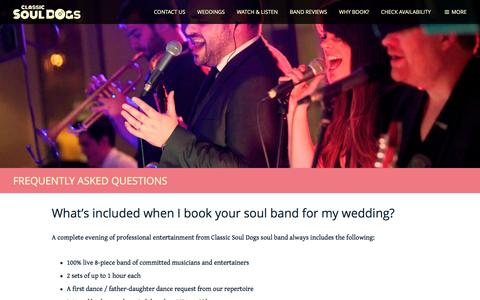 Screenshot of FAQ Page classicsouldogs.com - Frequently Asked Questions - Classic Soul Dogs - captured May 18, 2017