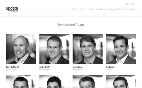 Screenshot of Team Page updatapartners.com - Updata Partners Growth Equity | Our Team - captured Sept. 30, 2014