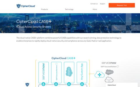 Screenshot of Products Page ciphercloud.com - CipherCloud says… - captured April 14, 2018