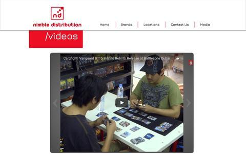Screenshot of Press Page nimbledistribution.com - Nimble Distribution   Media - captured June 13, 2017