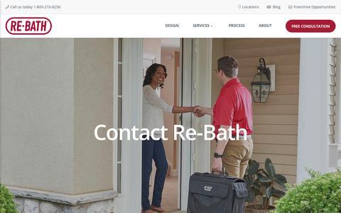 Screenshot of Contact Page rebath.com - Contact ReBath | Bathroom Remodeling Company | Bathroom Remodelers - captured Nov. 7, 2018