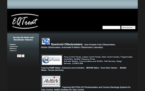 Screenshot of Products Page eqtreat.com - Products - EQ Treat Company - captured Oct. 1, 2014