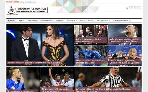 Screenshot of Home Page sportcafe24.com - SportCafe24.com - Notizie e risultati in diretta sul mondo del calcio - captured Feb. 11, 2016