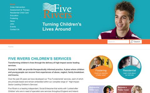 Screenshot of Site Map Page five-rivers.org - Five Rivers | Residential Children's Homes | Foster Care & Education - captured Oct. 6, 2014