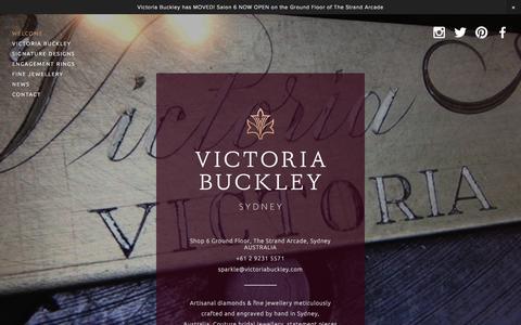 Screenshot of Home Page victoriabuckley.com - VICTORIA BUCKLEY | Artisanal Diamonds & Fine Jewellery - captured Sept. 30, 2014