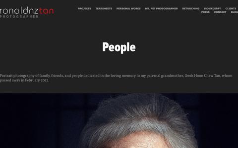 Screenshot of Team Page ronaldnztan.com - RONALD NZ TAN   PHOTOGRAPHER - People - captured Oct. 19, 2018