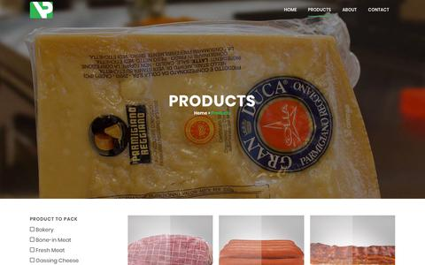Screenshot of Products Page vacpacinc.com - Products | Vac Pac - captured Oct. 18, 2018