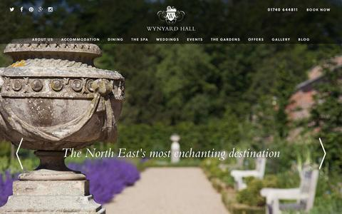 Screenshot of Home Page wynyardhall.co.uk - Home | Wynyard Hall | The North East's most loved destination - captured Feb. 23, 2016
