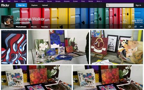 Screenshot of Flickr Page flickr.com - Flickr: Jasmine Walker Design's Photostream - captured Oct. 25, 2014