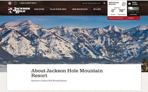 Screenshot of About Page jacksonhole.com - About Jackson Hole Mountain Resort - captured Nov. 26, 2016