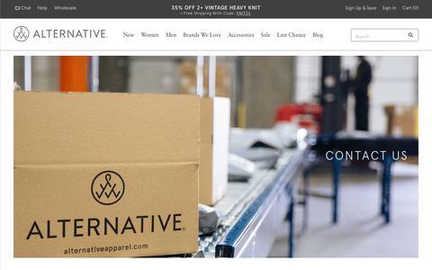 Screenshot of Contact Page alternativeapparel.com - Contact | Alternative Apparel - captured Nov. 12, 2017