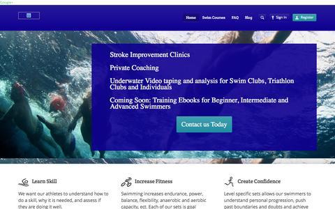 Screenshot of Home Page l2swim.com - L2 Swim - captured Sept. 26, 2014