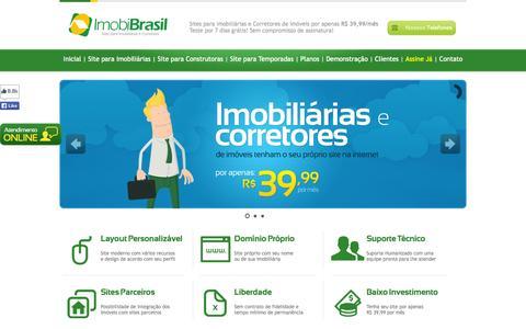 Screenshot of Home Page imobibrasil.com.br - IMOBIBRASIL - Site para Imobiliárias  por R$ 39,99 - captured Jan. 27, 2015