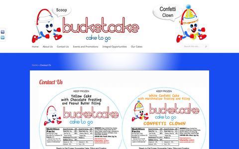 Screenshot of Contact Page bucketcake.com - Contact Us | Bucketcake - captured Sept. 30, 2014