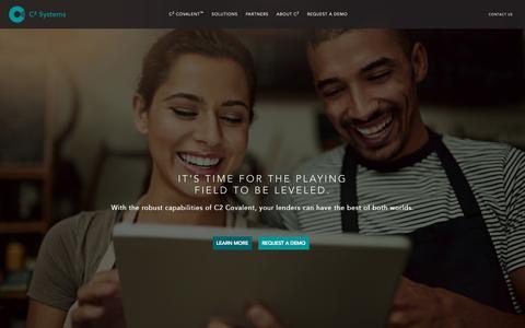 Screenshot of Home Page go-c2.com - Loan Origination Software | Servicing Lenders Nationwide | C2 SystemsC2 Covalent - captured Nov. 30, 2018