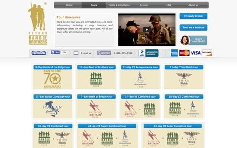 Screenshot of Maps & Directions Page beyondbandofbrothers.com - World War II tours | History tours | Itineraries - captured Oct. 3, 2014