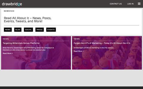 Screenshot of Press Page drawbridge.com - Drawbridge - NEWSFEED - captured Dec. 8, 2016