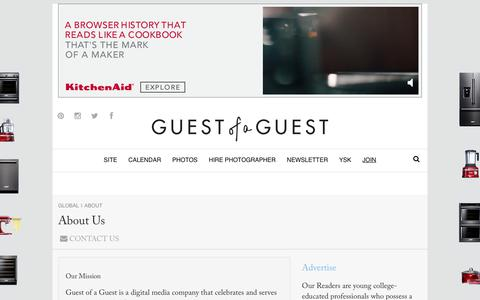 Screenshot of About Page guestofaguest.com - Guest of a Guest | About Us - captured Nov. 3, 2018