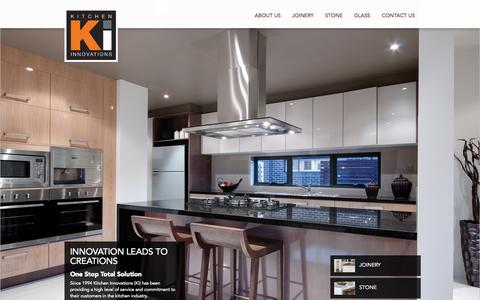 Screenshot of Home Page kitcheninnovations.com.au - Kitchen Innovations | One Stop Total Solution for Kitchens, Bathrooms & Joinery Kitchen Innovations | Kitchens, Bathrooms, Joinery - captured Sept. 30, 2014