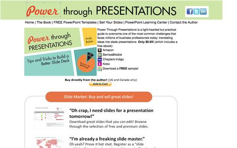 Screenshot of Home Page powerthroughpresentations.com - Power Through Presentations | Main Page - captured Sept. 30, 2014