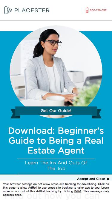 Placester Ebook: Beginner's Guide to Being a Real Estate Agent