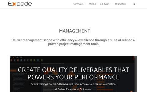 Screenshot of Team Page expede.net - management - captured Nov. 5, 2018