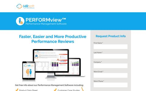 Screenshot of Landing Page hrsoft.com - Performance Management Software by HRsoft - captured Sept. 6, 2016