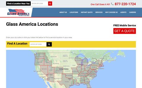 Screenshot of Locations Page glassusa.com - Windshield Repair & Replacement Service Nearest You | Glass America - captured Nov. 7, 2016