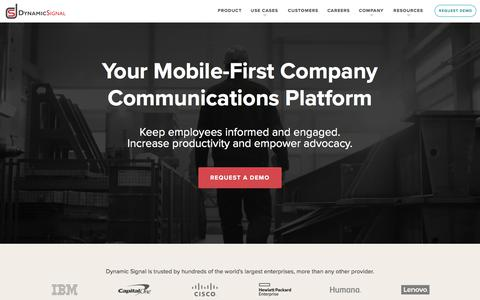 The Company Communications And Employee Advocacy Leader | Dynamic Signal
