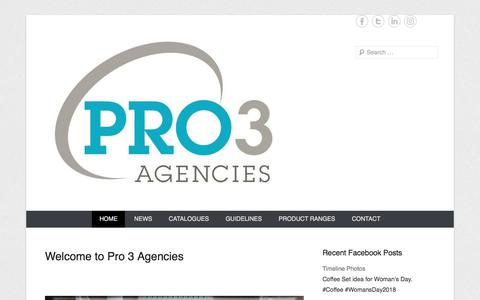 Screenshot of Home Page pro3agencies.co.za - Pro3 Agencies | If you need it, we will source it - captured July 22, 2018