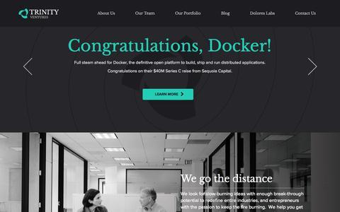 Screenshot of Home Page trinityventures.com - Home   Trinity Ventures - captured Sept. 18, 2014