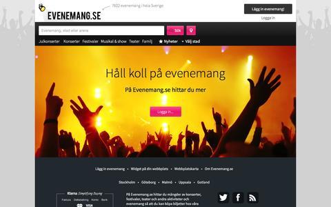 Screenshot of Login Page evenemang.se - Logga in - Evenemang.se - captured Jan. 24, 2016