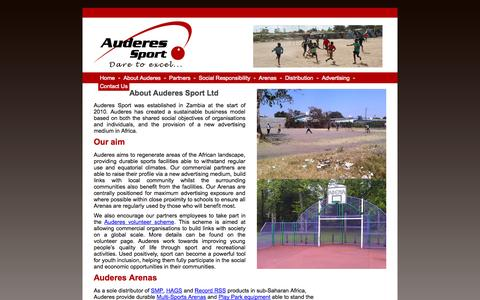 Screenshot of About Page auderes.com - About Auderes Sport Ltd - captured Oct. 4, 2014