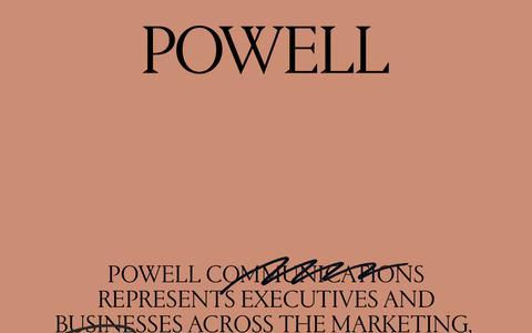 Screenshot of Home Page powellny.com - Powell Communications - captured Sept. 29, 2018