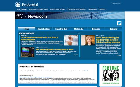 Prudential Newsroom: Home