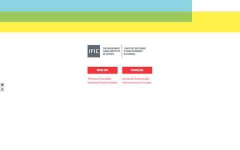 Screenshot of Home Page ific.ca - IFIC.ca - captured Oct. 6, 2014